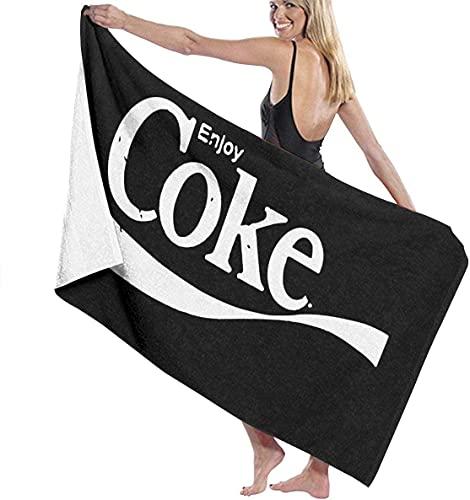Enjoy Coke Toallas de playa Ultra Absorbentes Toalla de baño de microfibra Picnic Mat para hombres mujeres niños 80x130cm