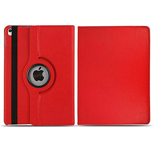 iPad Case, For iPad 2 3 4 Case 360 Rotating Leather Flip Stand Wallet Smart Cover (Red)