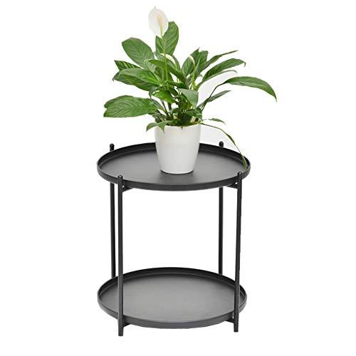 Table Basse De Stockage en Métal Table Basse Salon Chambre Multi-Couche Simple Table Basse (Color : Black, Size : 55 * 40.5 * 40.5cm)