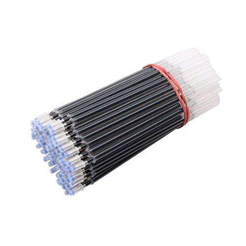 Gelschreiberminen, Ersatzminen für Gelschreiber, 0,5 mm, 100 Stück Einheitsgröße Schwarz