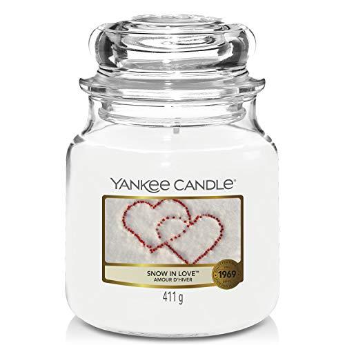 Yankee Candle vela en tarro mediano, Nieve y amor
