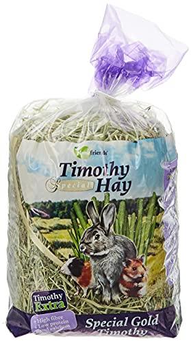 Homefriends Heno para Conejos, Enanos, Hamsters, Cobayas y Roedores Timothy Hay (600 g). Comida para Conejos con Fibra para el Desgaste Dental del Roedor. 🔥