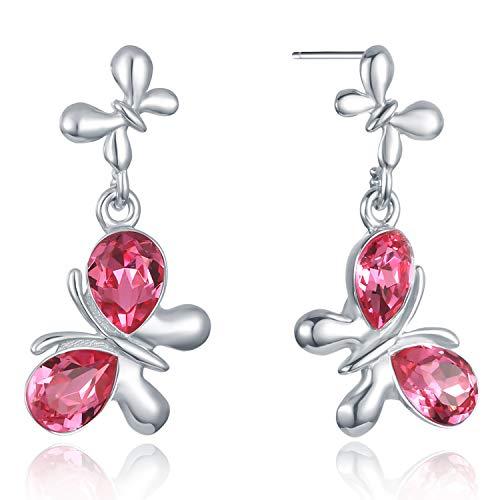 VOGUEA Damen - 925 Sterlingsilber Sterling-Silber 925 Markise Pink Kristall