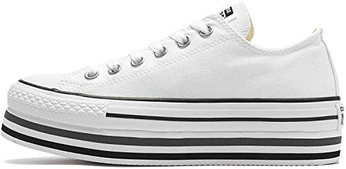 CONVERSE CHUCK TAYLOR ALL STAR PLATFORM EVA LAYER CANVAS OX Sneakers femmes Wit Lage sneakers