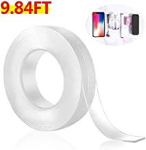 SKUDGEAR 30mm Anti Slip Double Sided Transparent Tape for Carpet, Wall hanging, Craft, Home & Office Purposes (30mm Width and 3 Meters Length)