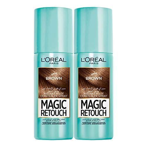 L'Oréal Magic Retouch Brown, 75 ml (Pack of 2)