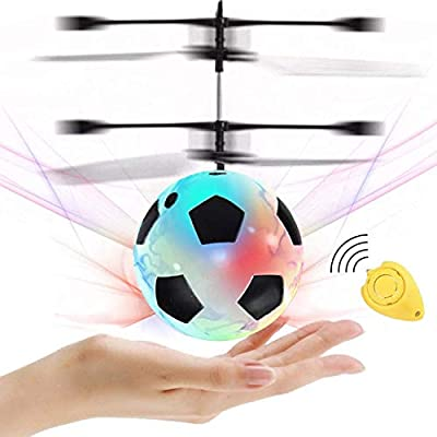 Flying Ball Toys, RC Flying Toy for Kids Boys Girls Holiday Birthday Gifts Children RC Helicopter Drone Light Up Ball Infrared Induction with Remote Controller for Indoor Outdoor Games Novelty Toys