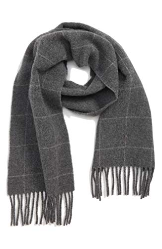 Polo Ralph Lauren Men's Reversible Windowpane Plaid Scarf, Grey, One Size