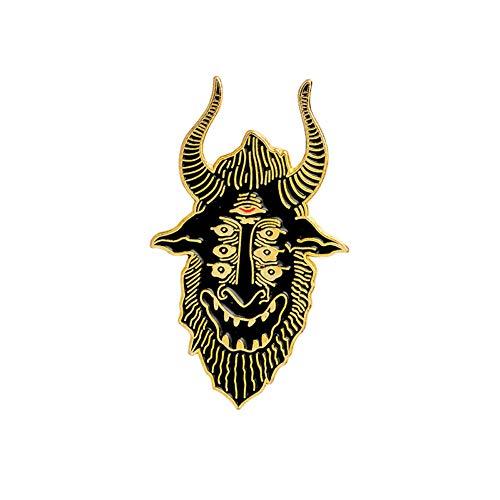 JTXZD Brosche Ents! Hands of Doom Satan Sieht alle Sargnadeln Gothic-Pins Abzeichen Broschen Lederjacken Rucksacknadeln