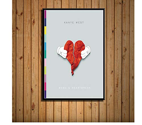 koushuiwa Kanye West La Vida De Yao Ye Álbum Cubierta De Música Hip Hop Pop Rap Art Pintura Lienzo Cartel Pared Decoración del Hogar Cuadros Sin Marco 50X70Cm Gh1682
