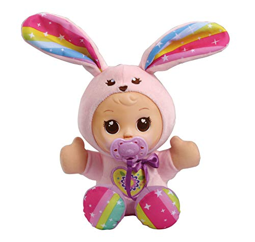 VTech - Little Love - Mijn Knuffelpop Konijn - Inclusief fopspeen - Educatief Babyspeelgoed - Stevig en duurzaam design - Leeftijd: 1 - 6 jaar