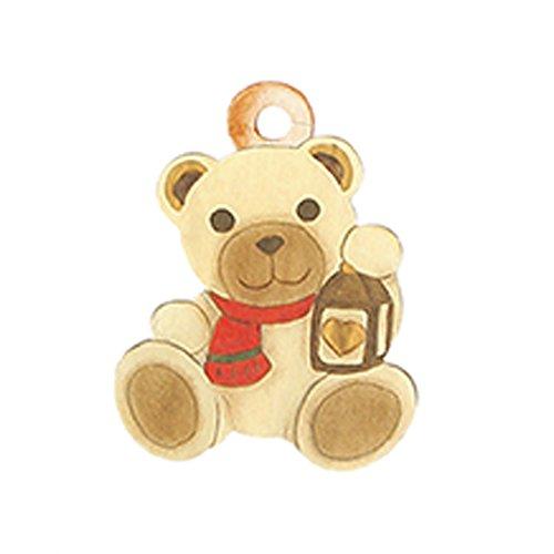 THUN Packung mit 3 Beuteln Teddy mit Laterne, Grußkarten, Keramik, bunt