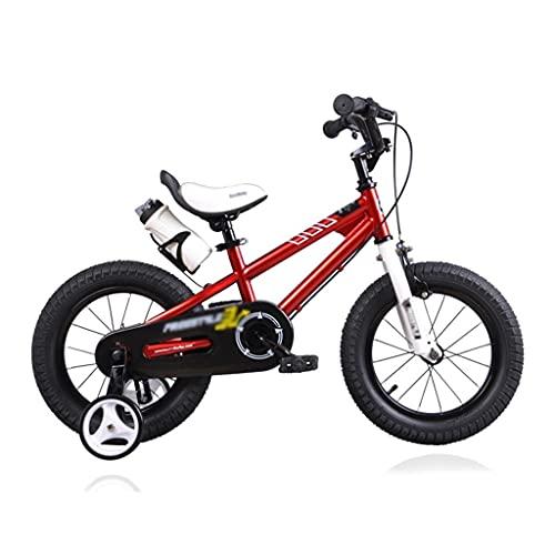 bicicleta para niños, niños Durante 3-10 años, 12/14/16 Pulgadas niños y niñas, con Diapositivas de Botellas de Agua (Color : Red, Size : 16 Inch)