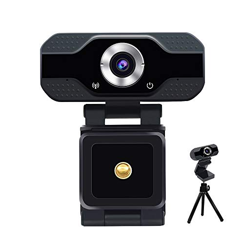 1080P HD Webcam with Built-in Microphone, Plug and Play USB Computer Camera for PC MAC Laptop Video Calling Conferencing