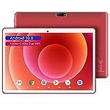 5G WiFi Tablet 10.1 Pulgadas 4G Android 10.0 Quad Core 1.6GHz DUODUOGO S5e Tablet Baratas 4GB RAM 64GB ROM/128GB Escalables Dual Cámara Tablet PC Google GMS Netfilx Bluetooth Type-C 6000mAh (Rojo)