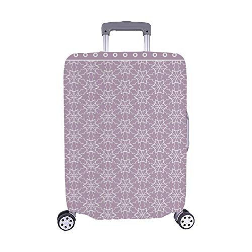 Abstract Colored Graphic Geometric Ornament Spandex Trolley Case Travel Luggage Protector Suitcase Cover 28.5 X 20.5 Inch