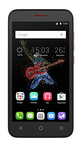 Alcatel Onetouch Go Play Smartphone (5 Zoll (12,7 cm) IPS Display, 8,0 Megapixel Kamera, LTE, Android 5.0) schwarz/rot