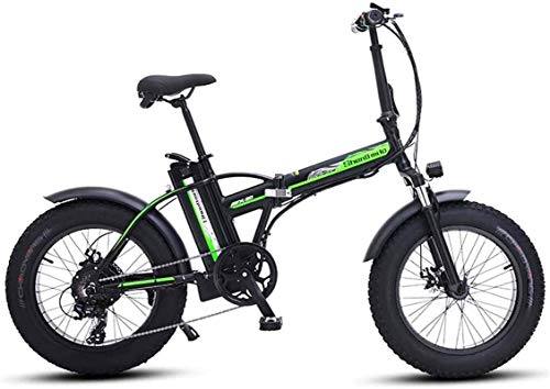 Bike,Fast Electric Bikes for Adults 20 Inch Electric Bicycle, Aluminum Alloy Folding Electric Mountain Bike with Rear Seat, Motor 500W, 48V 15AH Lithium Battery, Urban Commuter Waterproof E-Bik