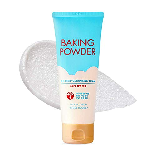ETUDE HOUSE Baking Powder B.B Deep Cleansing Foam - Perfect Cleansing and Peeling, Removes Pore Waste and Dead Skin Cells, 5.4 fl.oz.(160ml)