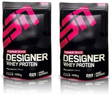 ESN Designer Whey Protein 2 x 1000g Beutel - Geschmack: Vanilla + Vanilla = 2 Kg