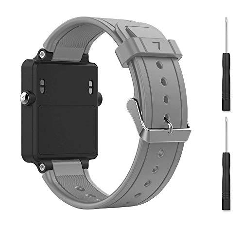 for Garmin vivoactive Band,EasyJoy Soft Silicone Replacement Band for Garmin vivoactive Smart Watch,Not fit Garmin vivoactive hr (Gray)