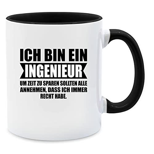Statement Tasse - Ich Bin Ingenieur - Unisize - Schwarz - Tasse ich Bin Ingenieur - Q9061 - Tasse für Kaffee oder Tee