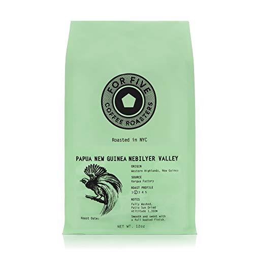 For Five Coffee Roasters - Roasted In NYC - Papua New Guinea Light Roast (Origin: Western Highlands, New Guinea), Whole Bean 12 oz