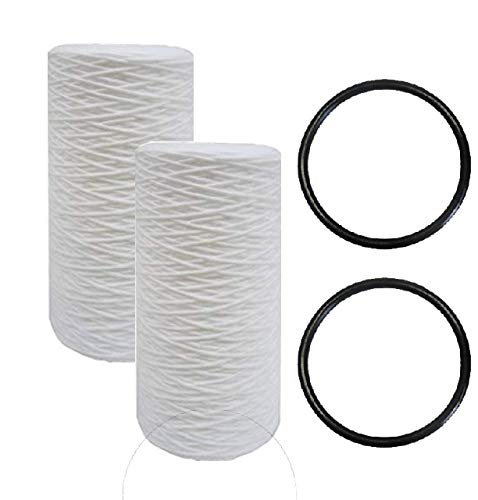 IPW Industries Inc. Compatible for Pelican Water Replacement 10 in. Sediment Filter & O-Ring - Pack of 2 Sets