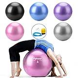 Gymnastik Ball Pilates Ball Gymnastikball Schwangerschaft Fitness Ball für Sitzball Büro, Pilates, Yoga, Exercices, Sport, Gym Zubehör rutschfest Explosionsschutz mit Ballpumpe (65 cm Pink)