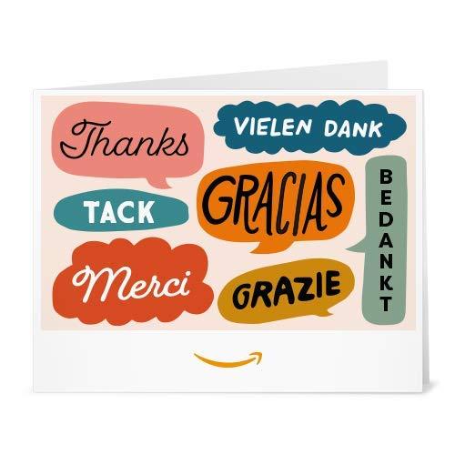 Amazon.de Gutschein zum Drucken (Danke Multilingual)