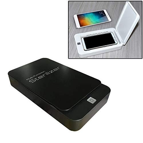 Moonbaby Multifunctionele mobiele telefoon gezichtsmasker UV desinfectie Aromatherapie Ultraviolet Lamp Sterilizer desinfecterende doos goed (zwart), Zwart