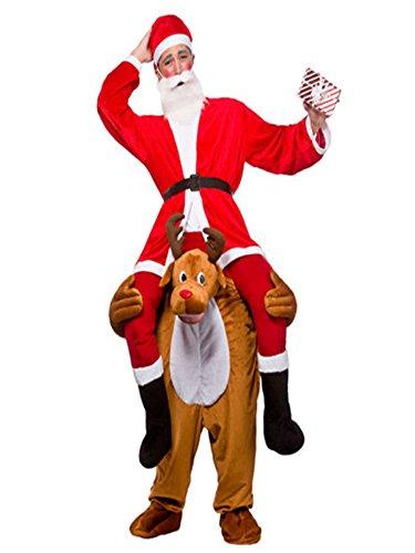 Halloween Carry On Me Reindeer Rudolf Mascot Costume Ride On Costume