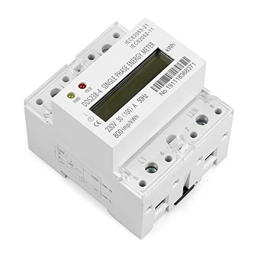 Contatore di energia monofase 230V AC 100A 50HZ LCD su guida DIN tipo Kilowattora kWh