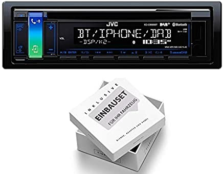 1998-2006 JVC KDR491 1DIN Radio CD USB Variocolor inkl Einbauset f/ür Audi TT 8N