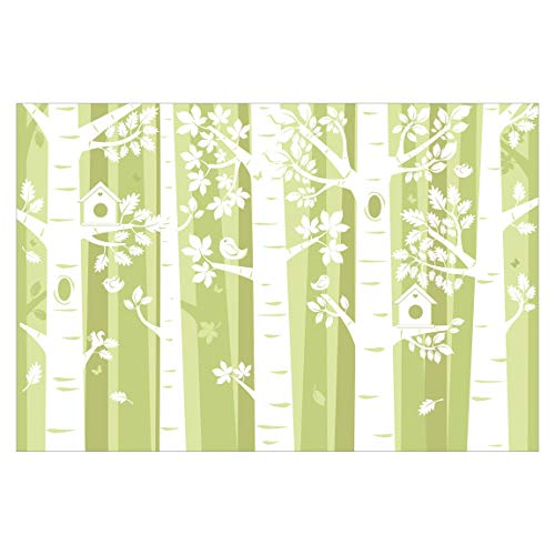 Vliestapete Bäume im Wald Grün, HxB: 255cm x 384cm