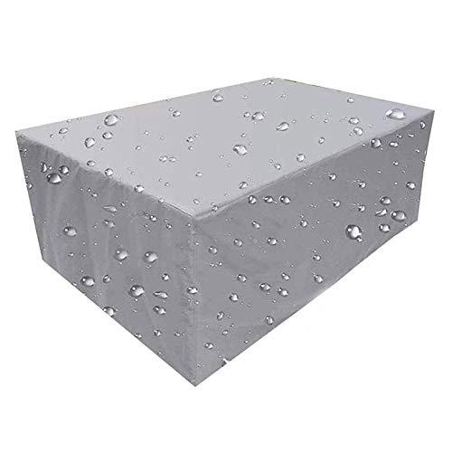 Q&Z Fundas para Muebles De Jardin,Impermeable Cubierta Protectora Exterior Resistente Al Viento Funda para Mesa JardíN Rectangular Anti-UV para Mesas De Comedor Sillas SofáS
