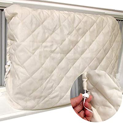 Evelots Window Air Conditioner Cover-Indoor-Quilted-No Cold Air-with Drawstrings