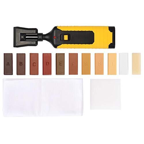 cherrypop Kit de reparación de pisos laminados Kit de reparación de laminados Sistema de cera Encimera de piso resistente carcasa chips arañazos juego de herramientas de reparación