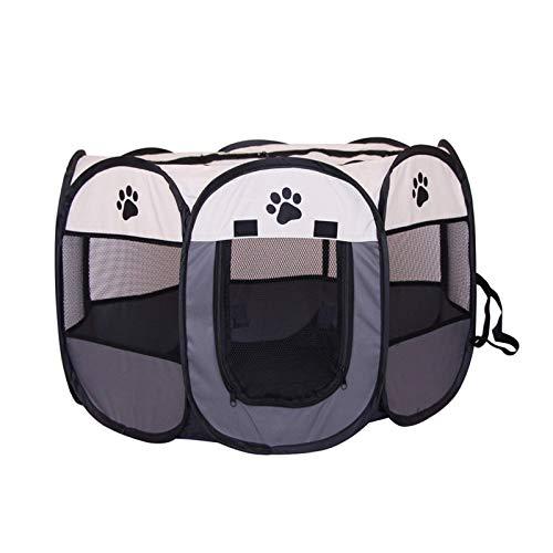 Carpa plegable para animales pequeños, transpirable y transparente, apta para usuarios en interiores y exteriores, apta para hámsteres, conejos, gatitos y cachorros.