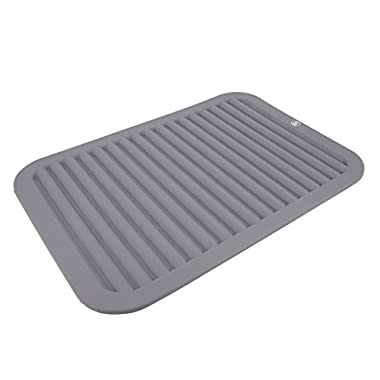 YR Silicone Trivets,Drying matts for dishes,Trivets for hot pots,Table mat,Heat trivets,Hot pad,Potholders,Coasters,Non-slip,waterproof,Durable-Gray