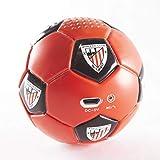 Speaker- Altavoz Bluetooh. Forma y tacto de balón. Producto oficial Athletic Club de Bilbao. Posibilidad sonido estéreo conectando dos altavoces.
