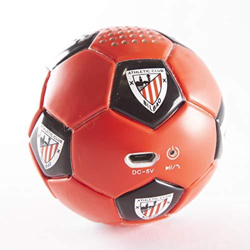Speaker- Altavoz Bluetooh. Forma y tacto de balón. Producto oficial Athletic Club...
