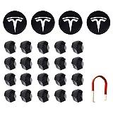 RUIZHI Tapas de Tuerca de Rueda Kit de Tapa de Rueda Cubierta de Logotipo Central Hub Nut Cap para Tesla Modelo S X 3 (Negro)