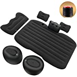 LUCKUP Inflatable Camping Car Mattress Back Seat Sleeping Pad Universal Airbed for Rest Travel with Pillows and Air Pump for SUV MPV Sedan (Black)