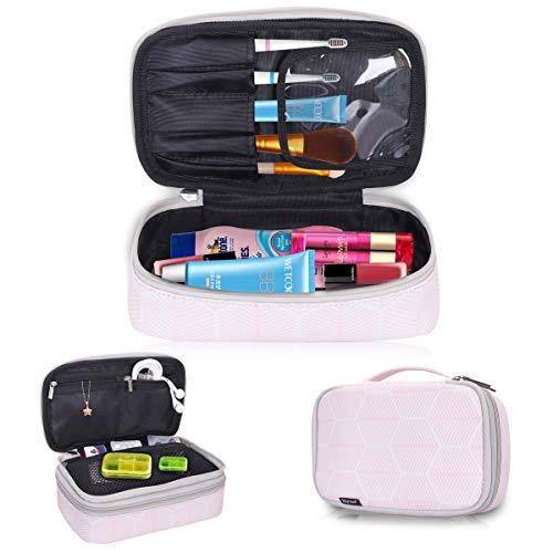 Skycase Toiletry Bag Portable Travel Makeup Bag Cosmetic Bag for Women/Men, Pink