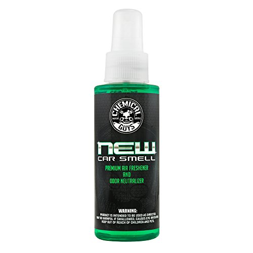 Chemical Guys AIR_101_04 Premium Air Freshener and Odor Eliminator with New Car Smell Scent (4 oz)