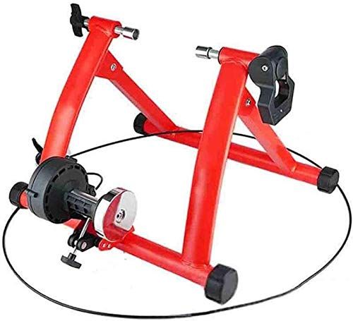 woyaochudan Bicycle Turbo Trainer,Bicycle Turbo Trainer, Bicycle Trainer Foldable Indoor Bike Trainer Bike Trainer Stand Bicycle Fitness Rack for Mountain Bikes,Red (Color : Red)