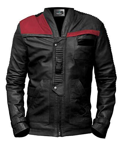 MSR Leather PoE Dameron Star Wars Finn Mens Black Biker Custom Made Leather Jacket