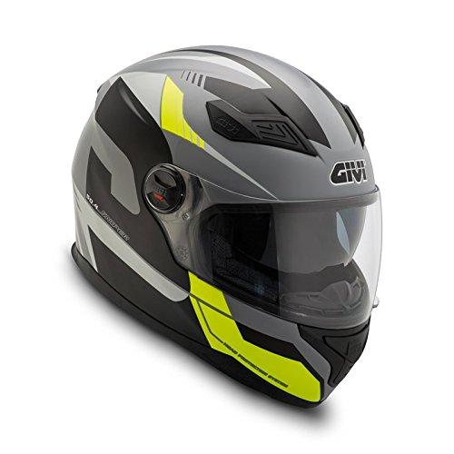 GIVI Sniper Sport - Casco de Moto Integral 50.4B, Color Amarillo y Negro L