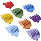 "BESTBOMG Professional 8 Color Hair Clipper Guide Combs Clipper Guard Combs Attachment #3170-400- 1/8"" to 1 -Great Fits for Professional Most Hair Clippers Beard Trimmer"